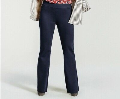 Cabi 9 To 5 Style 5312 Dark Navy Blue Trouser With Side Zip Size 6