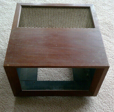 """Wood & Stainless Steel """"Picture Frame"""" type console enclosure - Rogers FM tuner"""