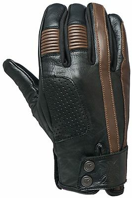 West Coast Choppers - Wcc Grunge Leather Riding Gloves Leather Gloves - Black
