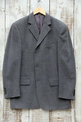 ANDREW FEZZA Sports Jacket Blazer Size 42L Gray Wool Cashmere Straight Fit ITALY