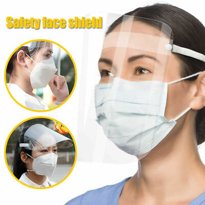 10 Pcs Full Face Shield Mask Clear Multi-angle Anti-Droplet Work Safe Protection