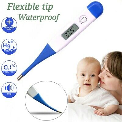 Digital LCD Thermometer Medical Baby Adults Body Safe Ear Oral Mouth Temperature