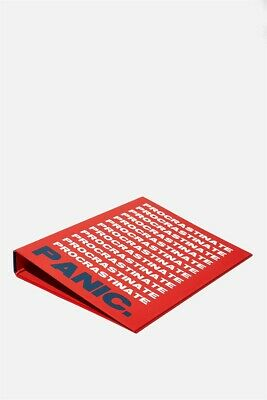 Typo Unisex A4 Ring Binder Desk Accessories  In  Multicoloured