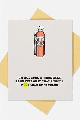 Typo Unisex Funny Birthday Card Cards  In  Multicoloured