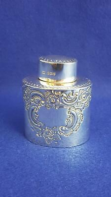First-rate Sml Travel(?) Victorian Sterling Silver Tea Caddy H/M Sheff 1892 54g