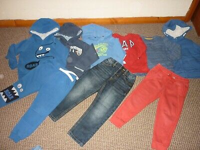 Bundle Boys Clothes age 3-4yrs Joggers Jeans Tops Hoodie GAP M&S