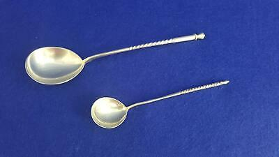 2 x Wonderful Antique 19th Century 1880s Russian (Moscow) 84 Silver Spoons 42.3g