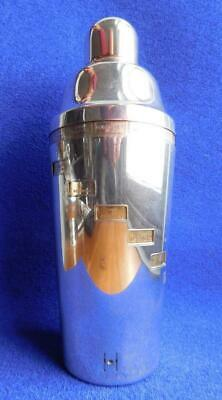 Patent Art Deco Jazz Age Cocktail Shaker with Dial Up Recipes UK 1920s