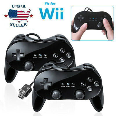 2Pack Pro Classic Game Pad Controller Console Joypad Fit For Nintendo Wii Remote