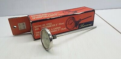 """Retro luminous stainless steel dial thermometer 6"""" developing tray photography"""