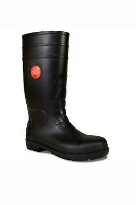 St Muddy Plus Safety Wellington Boots Work Steel Toe Cap Wellies Black Size 9/43