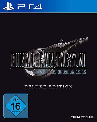 PS4 Gioco Final Fantasy VII 7 HD Remake Tedesco Deluxe Edition Nuovo