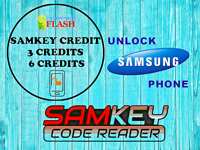 SAMKEY Code Reader SERVER 3 CREDITS Pack Unlock Any Samsung no Root FAST Unlock