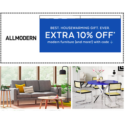ALL MODERN EXTRA 10% OFF Fast Free Ship Exp 4/30/20 modern furniture of new home