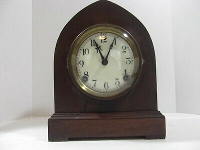 Antique Sessions 8 Day Mantle Clock, Hour & Half Hr. Strike,~RUNS~With Key