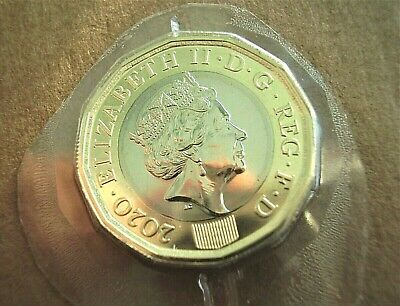 2020 ONE POUND FROM ROYAL MINT ANNUAL DEFINITIVE COIN SET. UNCIRCULATED £1 coin