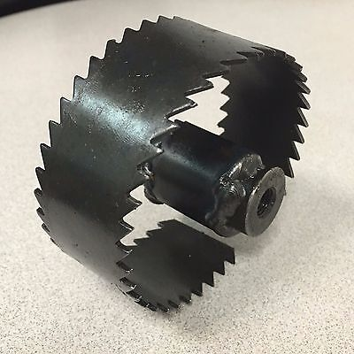 "Trojan 3 1/2"" Saw Tooth Blade for Sewer Cleaning Machines fits 3/4"" Cables"