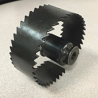 "Trojan 3 1/2"" Saw Tooth Blade for Sewer Cleaning Machines fits .55 dia Cables"