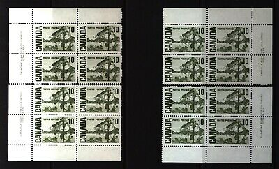 CANADA SET OF 4 PLATE BLOCKS 1 OF #462MNH 10c JACK PINE BY TOM THOMSON #4