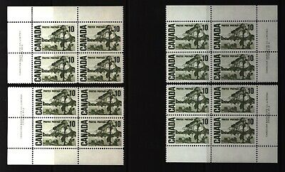 CANADA SET OF 4 PLATE BLOCKS 2 OF #462MNH 10c JACK PINE BY TOM THOMSON #1