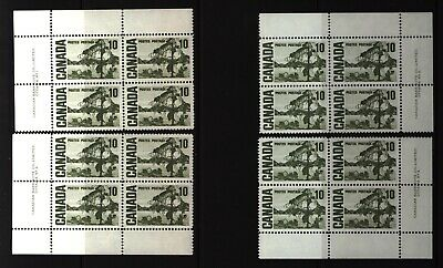 CANADA SET OF 4 PLATE BLOCKS 2 OF #462MNH 10c JACK PINE BY TOM THOMSON #5
