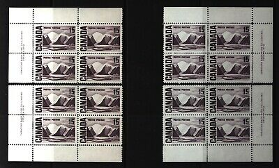 CANADA SET OF 4 PLATE BLOCKS 2 OF #463MNH 15c GREENLAND MOUNTAINS BY HARRIS #3