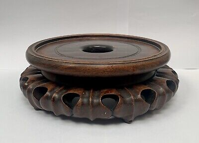 Antique Chinese/Japanese/Oriental Hard Wood Stand