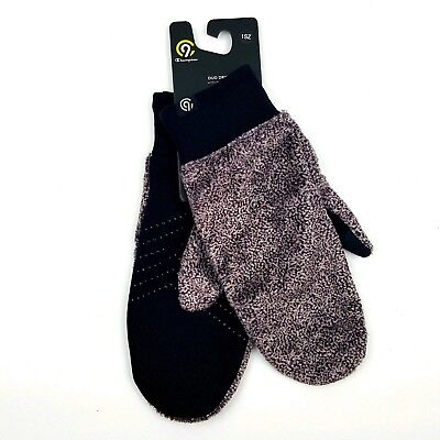 C9 Champion Womens OS Mittens Red Duo Dry Moisture Wicking Faux Fur One Size