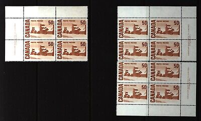 CANADA SET OF 3 PLATE BLOCKS 1 OF #465AMNH 50c SUMMER'S STORES BY JOHN ENSOR #1