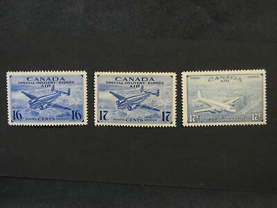 Canada Air Mail Special Delivery Stamps CE1 - CE3 Mint