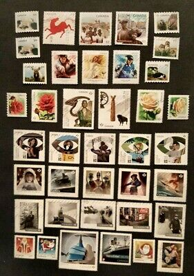 Canadian Used Stamps- 39 recent stamps from 2014