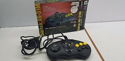 Saitek X6-31M Thr ultimate PC gamr pad collectable with box 1997 Windows 95/98