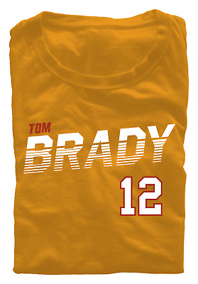 Tom Brady T-Shirt Tampa Bay Buccaneers Regular/Soft Jersey 12 NFL Throwback