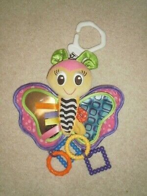 PlayGro Butterfly multi-coloured pram toy rattle
