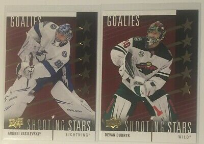 2019/2020 Ud Shooting Stars Lot Of 2 Vasileyskiy / Dubnyk