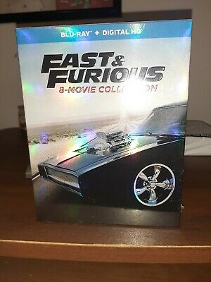 Fast and Furious: 8-Movie Collection (Blu-ray Disc, 2017, 9-Disc Set) NEVER USED