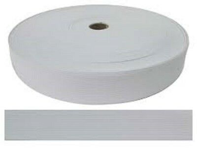"1-3/4"" by 50-Yard White Knitted Polyester Elastic Spool for face mask shield"