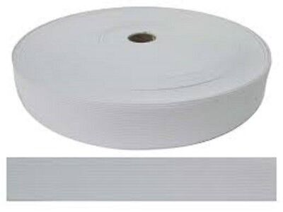 "1-1/4"" by 50-Yard White Knitted Polyester Elastic Spool for face mask shield"