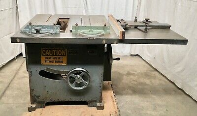 "Tannewitz 16-18"" Table Saw 220/440v 5hp 3ph Rack & Pinion Fence (101241)"