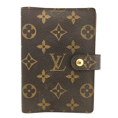 100% Authentic Louis Vuitton Monogram Agenda PM Notebook Cover /ee39
