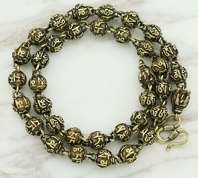 Exquisite Old China Pure Brass Handwork dragon statue collectable necklace /Vb01