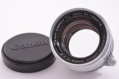 CANON early chrome ver 50mm/F1.8 Leica 39mm LMT screw mount #156676