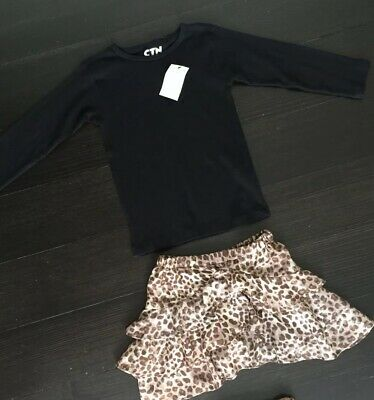 NWOT Girls WITCHERY Skirt and NWT COTTON ON Top Size 4