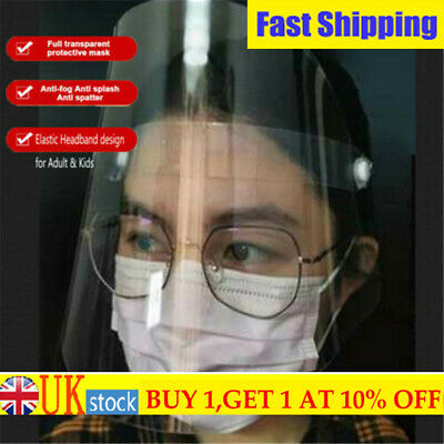 Hot!Full Face Shield Clear Flip Up Visor Oil Fume Protection Safety Work Guards