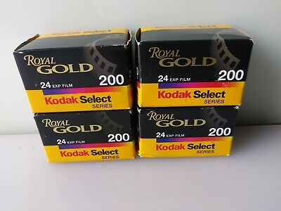 KODAK ROYAL GOLD 200 Color Negative Film 35mm, 4 Rolls Total  Exp 03/01