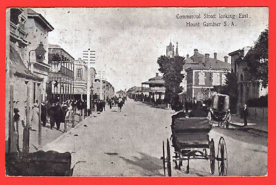 Australia - Vintage Postcard - Mount Gambier Circa 1907 - Commercial St - Used