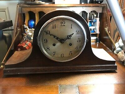 Vintage Napoleons Hat Mantle Clock 1950s F.H.T Mechanism Spares Repairs