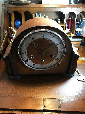 Smiths Westminster Chime 1950s Mantle Clock For Spares Repairs