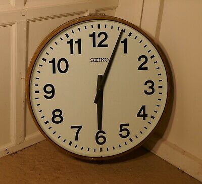 A Very Large Seiko Industrial Wall Clock, Slave Clock