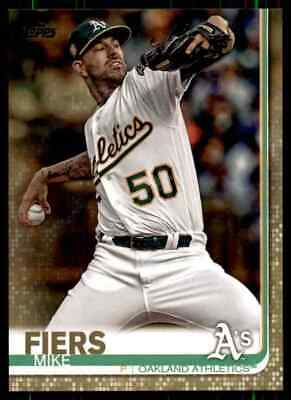 2019 Topps Gold Mike Fiers Oakland Athletics #413